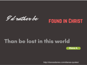 Found in Christ