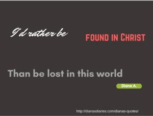 Found in Christ