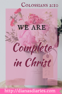 We are complete in Christ Jesus