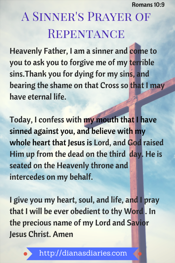 Stench of Sin to Scent for Christ - A Sinner's Repentance Prayer