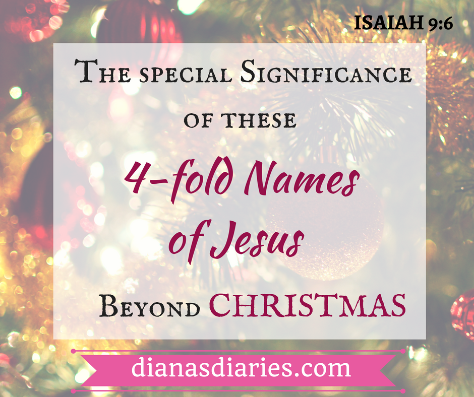 The special significance of these 4 unique name of Jesus